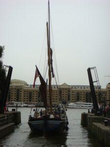 Lady Daphne Leaving St. Kats Dock